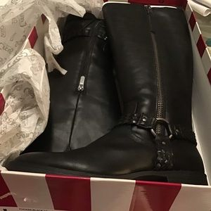 Boots 7.5 Black In and Outside ZIP NWT Sam Edelman